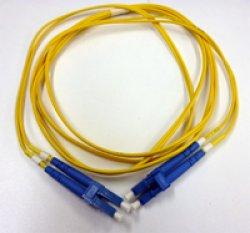 画像1: 光パッチケーブル【2芯タイプ、LC/LC、シングルモード、5m】