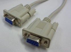 画像1: RS-232Cケーブル 9pinメス-9pinメス クロス結線 1.7m