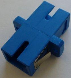 画像1: 光中継アダプタ【1芯, SCメス/SCメス変換:シングル・マルチモード共用】
