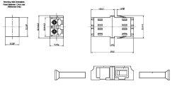 画像2: 光中継アダプタ【2芯, LCメス/LCメス変換:シングル・マルチモード共用】